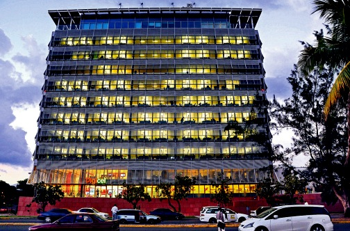 Digicel-HQ , Downtown , Kingston. Pic by Jamaica Observer